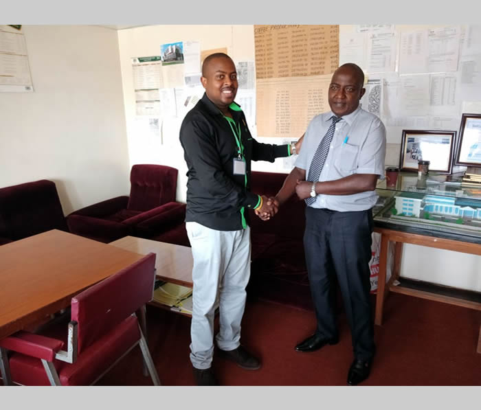 With CEO Meru Cooperative Union Mr. Frederick Mburugu