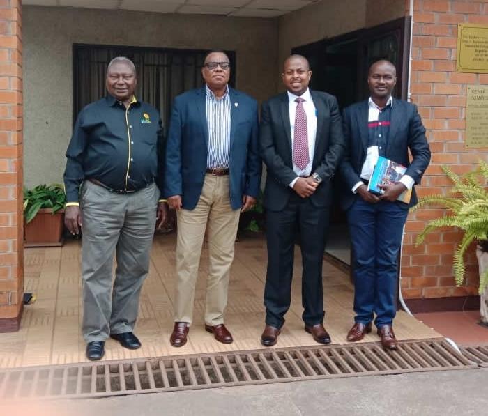 With the Kenyan Ambassador to Rwanda HE John Mwangemi.